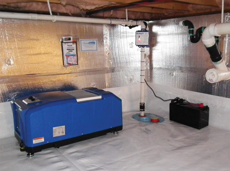 Selecting a crawl space dehumidifier for your north for Crawl space conversion cost