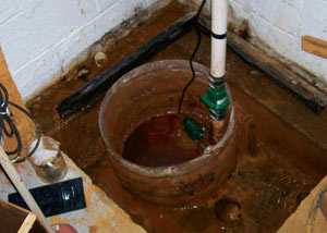 Extreme clogging and rust in a Spring Lake sump pump system
